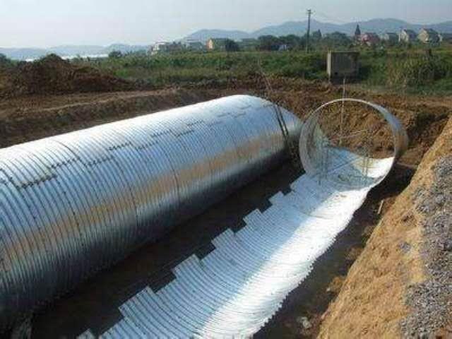 钢波纹管管道线路测量及沟槽开挖的方法